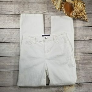NYDJ white straight leg jeans Sz 6